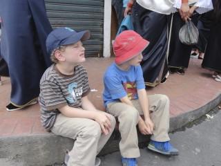 Boys Not Sure About This Kind Of Parade (Good Friday)