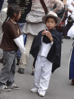 Boy In Indigenous Clothes (not nearly as common as girls)