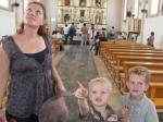 Checking out the Salinas church
