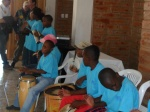 Great group of young musicians during almuerzo