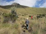 Boys on trail to peak