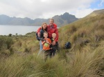 Family at Mojanda Lake