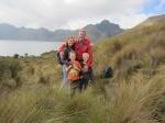 Family at Mojanda Lake