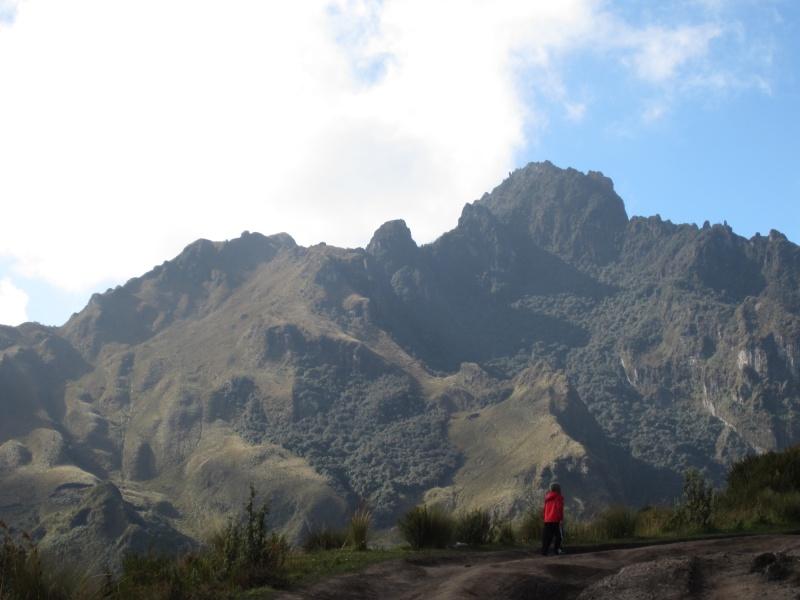 Vaughn hiking ahead