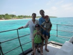 Family and Carribean Sea outside of Cartagena