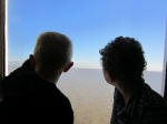 Boys watching the river pass by on the ferry from Buenos Aires to Colonia