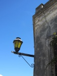 Lampost and blue sky